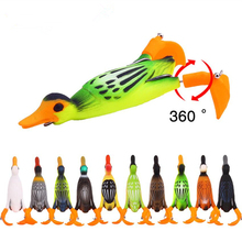 Ducking Fishing Frog Lure Propeller flipper duck Fishing Lure Artificial Bait Duckling 3D Eyes Day Baits Bass Fishing Tackle