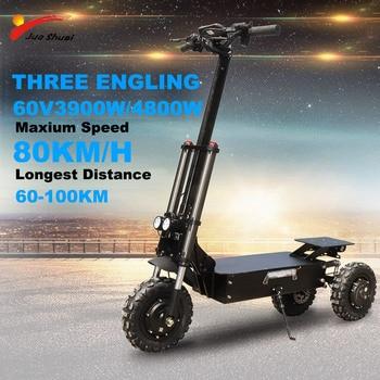 Patinete eléctrico potente de 80 KM/H para adulto, 3x1600W, Motor de 11...