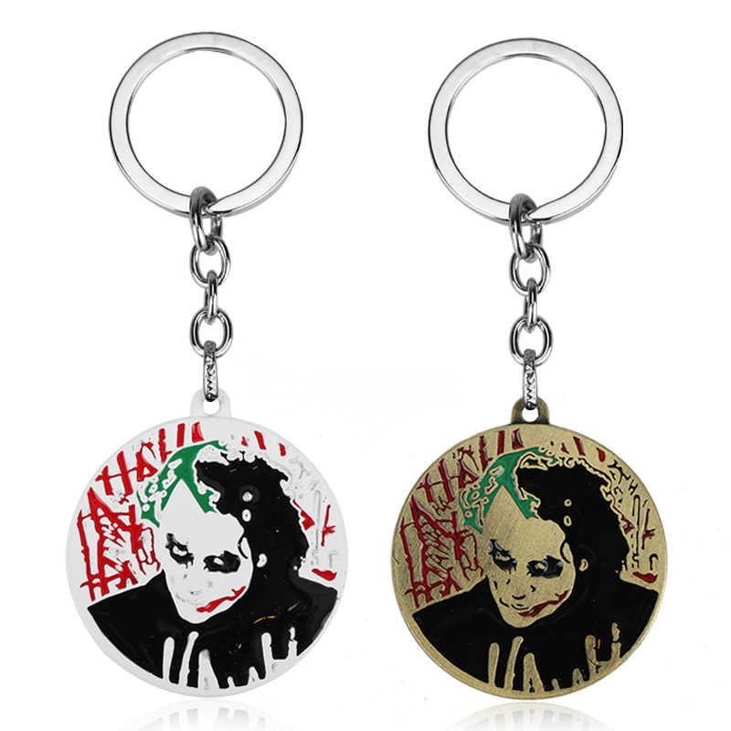 Clown Jack brelok film samobójstwo Squad rysunek wisiorek brelok do kluczy breloczek Cosplay akcesoria Metal biżuteria