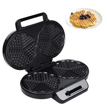 1200W Electric Waffle Maker Double Head Sandwich Iron Waffles Bubble Egg Cake Toaster Baking Oven Breakfast Machine 220-240V недорого