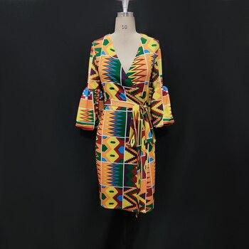 Printed Dress Puff Sleeve Fashion Dresses 2
