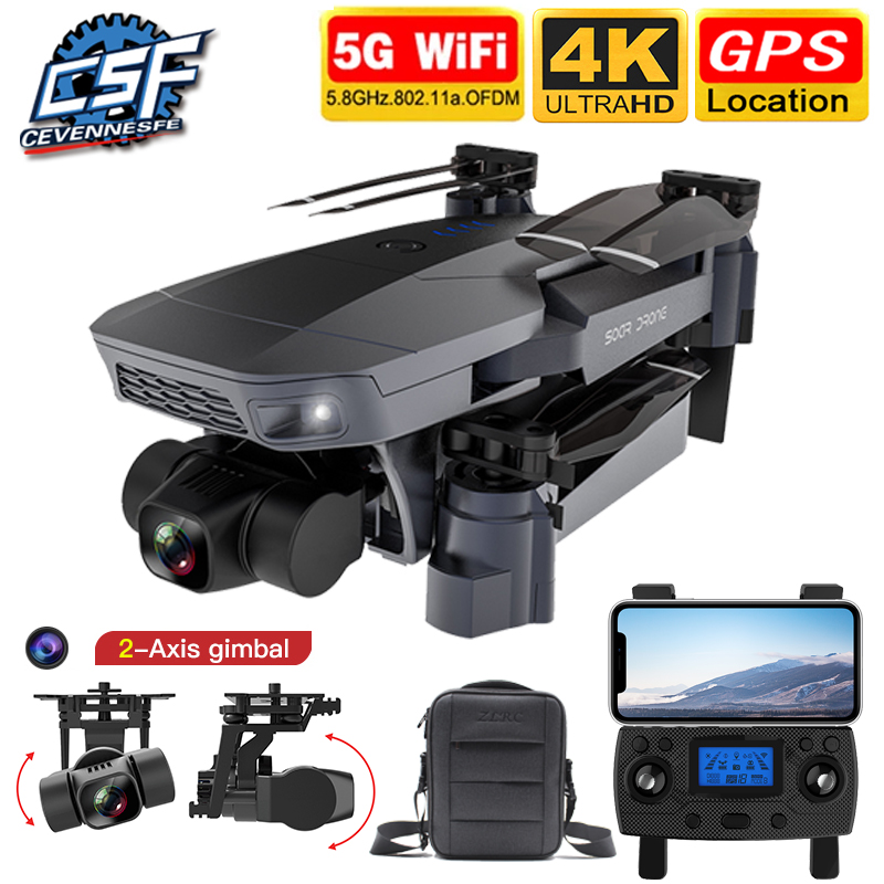 Permalink to 2020 NEW SG907 Pro Drone Quadcopter GPS 5G WIFI 4k HD Mechanical 2-Axis Gimbal Camera Supports TF Card RC Drones Distance 800m