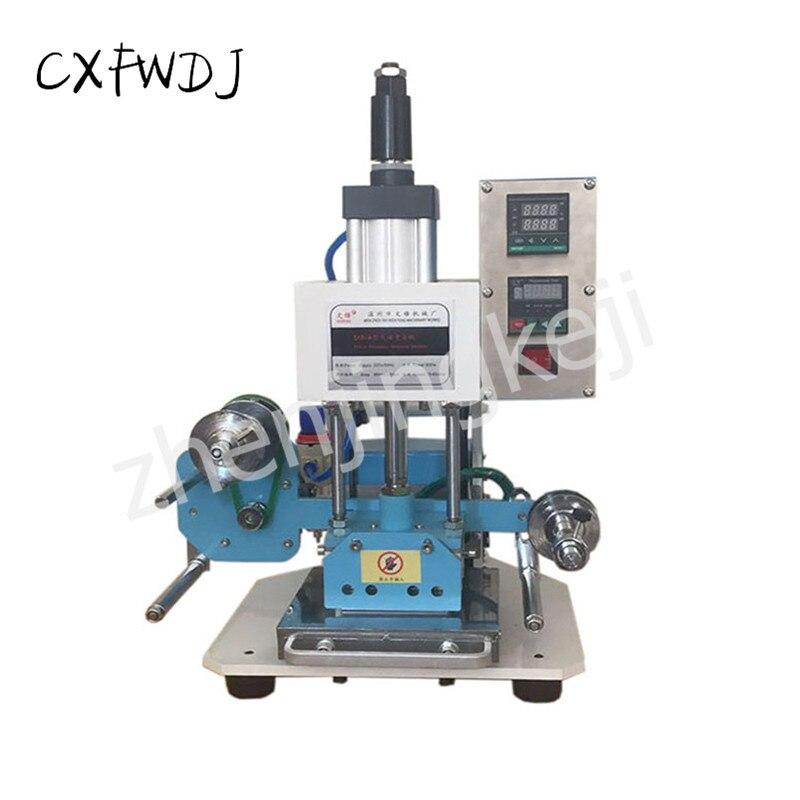 ZY-518A 空気圧ホットスタンピングマシン 220 v 圧縮機 500 ワットモータ自動ゴールドロールとブランディング機インデント