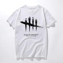 Dead By Daylight motyw gry męskie czarne i z białymi paskami T-Shirt 2020 Shirt Creator stwórz własną koszulkę