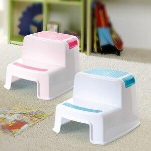 Image 5 - 2 tamborete da etapa para crianças crianças, tamborete da criança com aperto macio resistente do deslizamento para a segurança como tamborete do treinamento do potty do toalete do banheiro