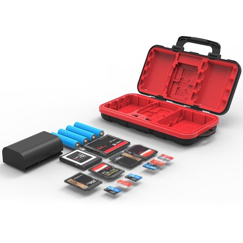 Desiontal Waterproof SD Card Holder Camera Battery Case SD/XQD/CF/TF For Nikon EN-EL15 EN-EL 14A LP-E6 /Sony/Leica Camera