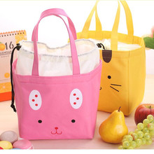 лучшая цена Cartoon Lunch Box Portable Insulated Canvas Bag Lunch Storage Bag Thermal Food Picnic Lunch Bags For Women Kids Lunch Container