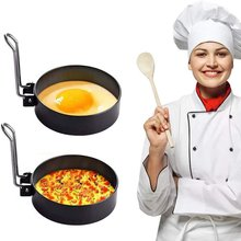 Фото - Round Stainless Steel Metal Egg Fryer High Temperature Resistance Fried Muffin Shaped Eggs Home Kitchen Cooking Tools 17cm 230v 45w for ebmpapst w2s130 ab03 24 all metal high temperature resistance fan