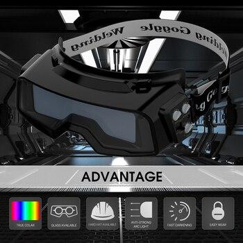 YESWELDER Wahre Farbe Schweißen Brille, Auto Verdunkelung Schweißen Gläser für TIG MIG MMA Plasma Schweiß Maske LYG-R100A
