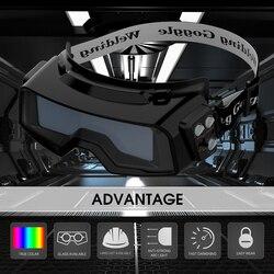 Yessoldador gafas de soldadura de Color verdadero, gafas de soldadura de oscurecimiento automático para TIG MIG MMA Máscara de Soldadura por Plasma LYG-R100A