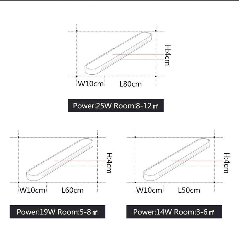 الأبيض سقف ليد حديث أضواء الممر شرفة السرير غرفة السقف ضوء AC110-220V الأجهزة + الاكريليك plafonnier أدى السقف مصباح