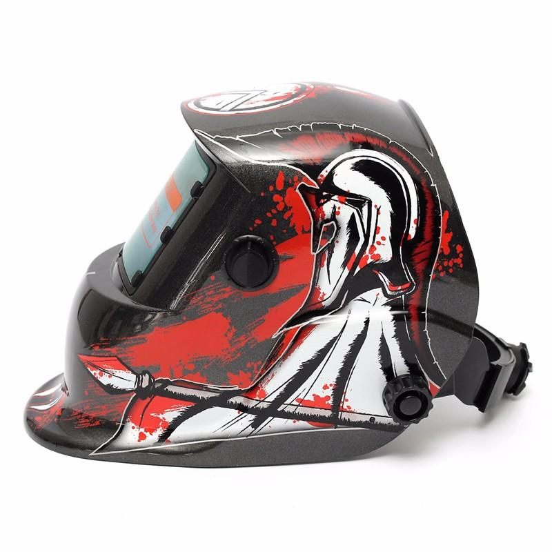 Solar Energy Auto Welding  Helmet  Electric Welding Protective Helmet With Fashion Pattern Welding Mask