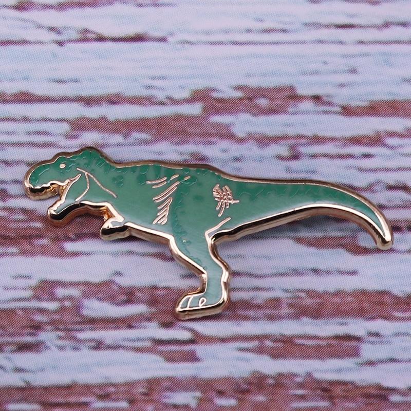 Dinosaur lapel pin. T.Rex Tyrannosaurus Rex novelty pin badge