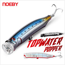 Noeby Wobbler Feed Popper Topwater Fishing Lure 150mm 55g Big Spalsh Popper Artificial Hard Bait for Sea GT Tuna Fishing Lure