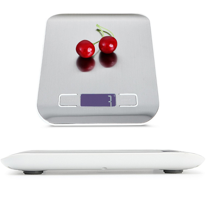 Stainless Steel Digital USB Kitchen Scales 10kg/5kg Digital Scale LED Electronic Scales Postal Food Measuring Weight Scales