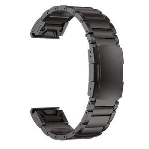 Image 4 - רצועת השעון עבור Garmin Fenix 6 Fenix 6 פרו Fenix 5 Fenix 5 בתוספת טיטניום סגסוגת להקת 22mm שעון רצועה צמיד עבור fenix 6