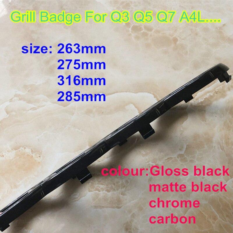 جديد تصفيف السيارة 4 حلقة ثلاثية الأبعاد ABS البلاستيك الأسود كروم الكربون شواء الجبهة الخلفية التمهيد شارة شعار ل A3 A5 Q3 Q5 Q7 A4L A6L C7 B8