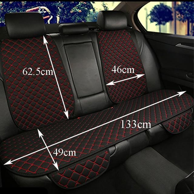Grande taille lin housse de siège de voiture protecteur lin avant ou arrière siège arrière coussin coussin tapis dossier pour Auto intérieur camion Suv Van 3