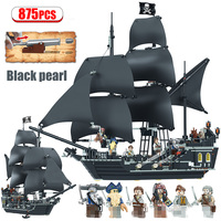 875PCS Pirates of the Caribbean Building Blocks Toys Compatible LegoING The Black Pearl Ship Toys for Girls Boys Children
