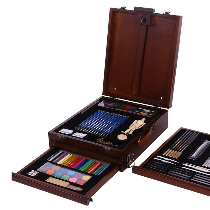 Art Design Sketch Painted Set Beginner Professional Art Portable Painting Box Painting Tools Gift Colored Pencil Art Supplies