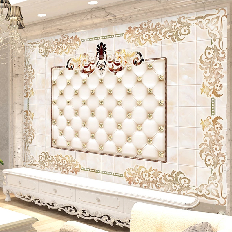 European Style 3D Stereo Marble Pattern Wallpaper Living Room TV Sofa Home Decor Luxury Background Wall Painting Papel De Parede