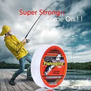 100% Fluorocarbon Durable Coating Fishing Line Monofilament line fishing Line mainline Strong leader Super japan carp Sinki C1H4