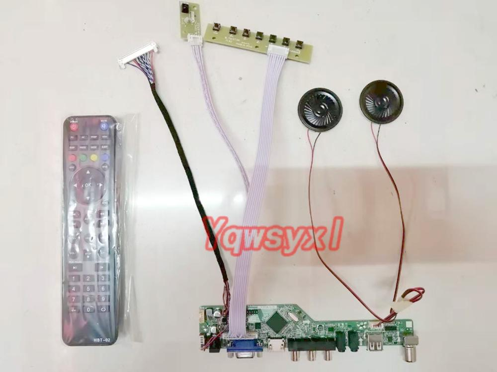 Yqwsyxl  With Speaker Kit For  N156B6-L0A  TV+HDMI+VGA+AV+USB LCD LED Screen Controller Driver Board