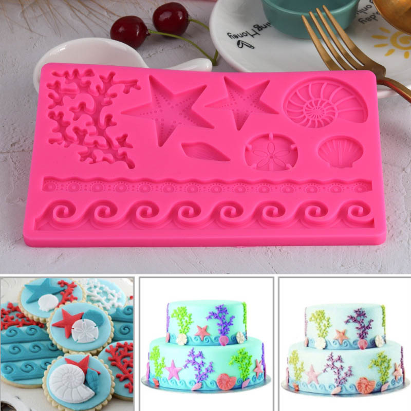 Food Grade Underwater World Conch Shape Fondant Cake Mold 1Pcs Chocolate Mould Multifunction Silicone Baking Accessories image