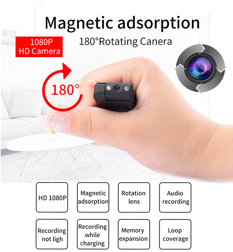 Mini Pen Camera Night Vision spy Gadgets HD 1080P Degree Lens Camcorders Waterproof Motion Detector Camera Nanny Cam With Audio image