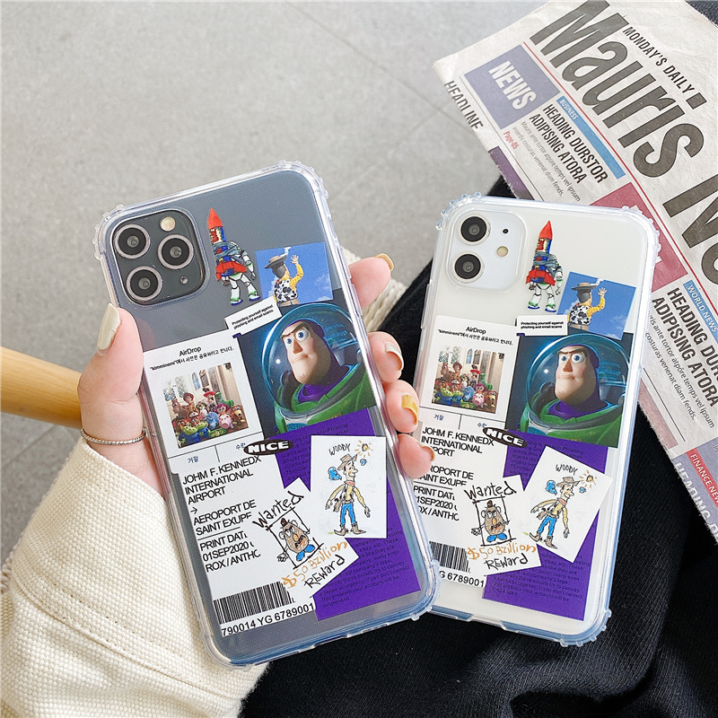 Anti-knock <font><b>Toy</b></font> <font><b>Story</b></font> phone case for <font><b>iPhone</b></font> 11 Pro max 8 7Plus clear soft cover for <font><b>iPhone</b></font> XS MAX XR X Buzz Woody character coque image