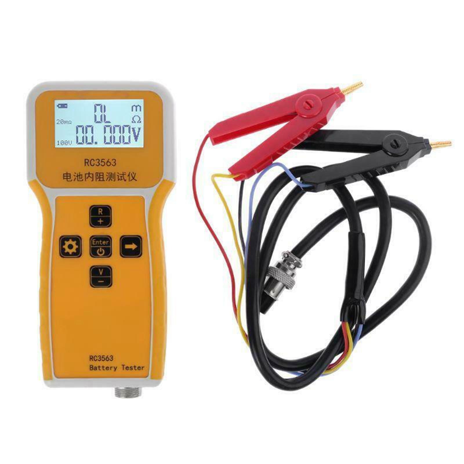 LCD 디스플레이 RC3563 휴대용 배터리 내부 저항 테스터 분석기 미터 전기 기기 테스트 클립 포함