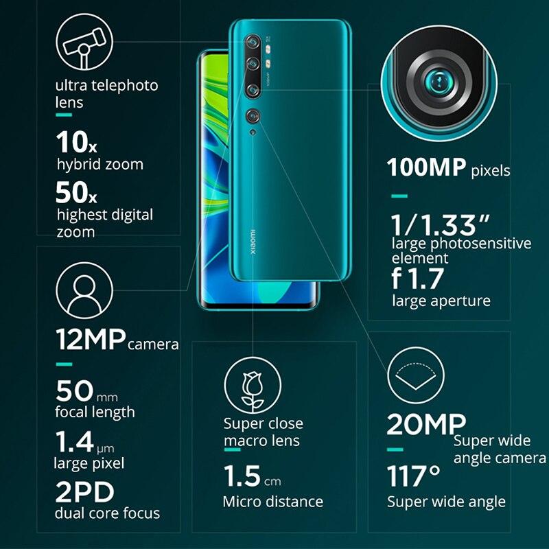 Смартфон с глобальной ПЗУ Xiaomi Mi CC9 Pro, 6 ГБ ОЗУ + 128 Гб ПЗУ, камера 5260 МП, аккумулятор мАч, мобильный телефон Snapdragon730G - 4