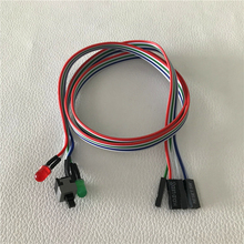 100 pçs/lote pc desktop computador chassi interruptor botão de reset disco rígido status led power led cabo 65cm