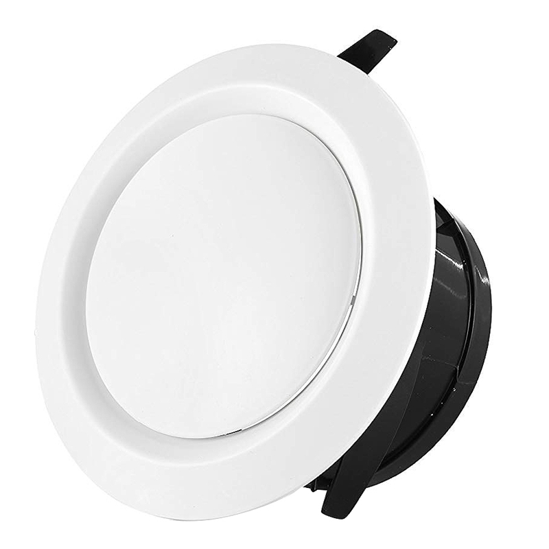 2 Pieces ABS Adjustable Air Vent Round Soffit Exhaust Vent White Inline Duct Fan Outlet Vent 4 Inch