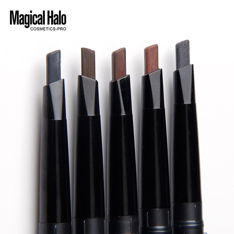 Волшебный автоматический карандаш для бровей с двойным вращением, Водостойкий карандаш для бровей 5 цветов, натуральный карандаш для брове...
