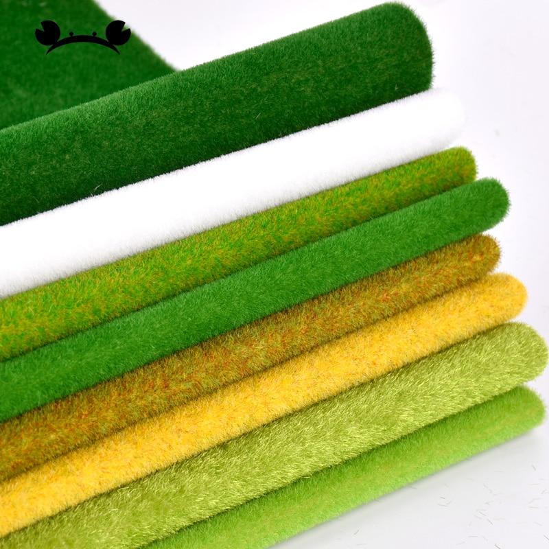 Landscape Grass Mat For Model Train Paper Scenery Layout Lawn Diorama Accessories 25*25cm 35*50cm 35*100cm (no Sticker)