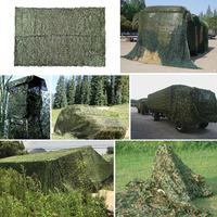 New 9x4.5m Camping Sun Shelter Hunting Military Camouflage Nets Woodland Army Camo Netting Camping Tent Shade Car Sun Shelter