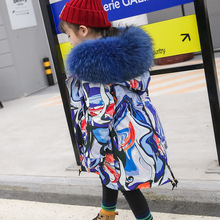 Kids Fur Jackets Coat Clothing Rabbit-Fur Autumn Boys Winter Children Real Hooded