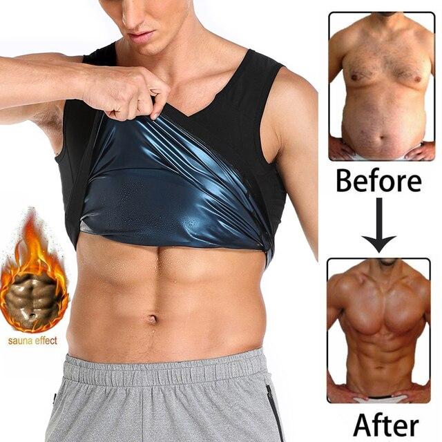 Men Neoprene Sweat Sauna Vest Body Shapers Vest Waist Trainer Slimming Tank Top Shapewear Corset Gym Underwear Women Fat Burn 1