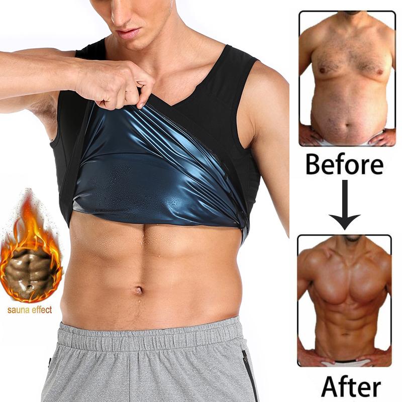 Men Neoprene Sweat Sauna Vest Body Shapers Vest Waist Trainer Slimming Tank Top Shapewear Corset Gym Underwear Women Fat Burn