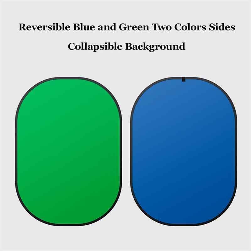 4-في-1 لطي خلفية لوحة 1.5 m x 2 m الأخضر الأزرق خلفية خلفية المحمولة صور العاكس لوحة من يوتيوب