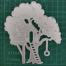 119*105mm Tree house Metal Cutting Die Stencil Template for DIY Embossing Paper Photo Album Cards Making Scrapbooking Dies Cut palm tree metal cutting dies stencil diy card album making scrapbooking template embossing handicraft die cut 2019