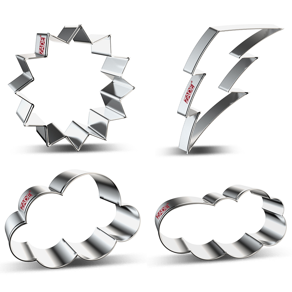 ZADE Weather Cookie Cutter Biscuit And Fondant Cutter - Stainless Steel
