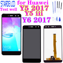 For Huawei Y5 2017 LCD Display Touch Screen Digitizer Y5 iii LCD Nova Young Y6 2017 MYA L02 L41 L22 L23 L11 L01 U29 LCD MYA-L11 v156b2 l02 lcd display screens