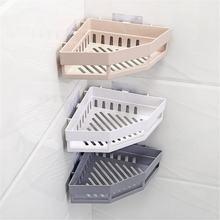 Настенный угловой держатель для ванной комнаты стеллаж хранения