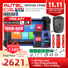 Autel IM608 ماكسيم 608 OBD2 الماسح OBDII سيارة السيارات أداة تشخيص OBD 2 جميع نظام البرمجة الرئيسية PK IM508 مفتاح مبرمج