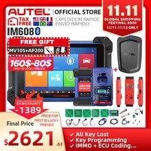 Autel im608 maxim 608 obd2 scanner obdii carro ferramenta de diagnóstico automático obd 2 todo o sistema chave programação pk im508 programador chave