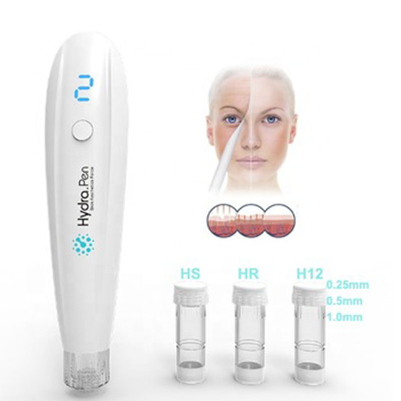 Hydra Pen Hydra Roller Pen H2 Wireless Electric Hydrapen 4 Levels Adjustable Auto Injection Portable 2 In 1 Hyaluronic Acid Pen