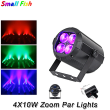 цена на 2XLot LED Stage Lighting Effect 4X10W RGBW 4IN1 LED Par Lights DMX512 Dj Disco Lamp KTV Bar Party Lights With Zoom Functions