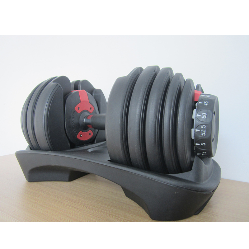 High-end Dumbbell Weight-adjustable Dumbbell Five Adjustment Pads ZJ3330 Professional Fitness Dumbbell